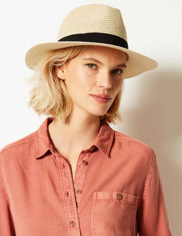 f96010d976a Classic Fedora Hat. M&S Collection