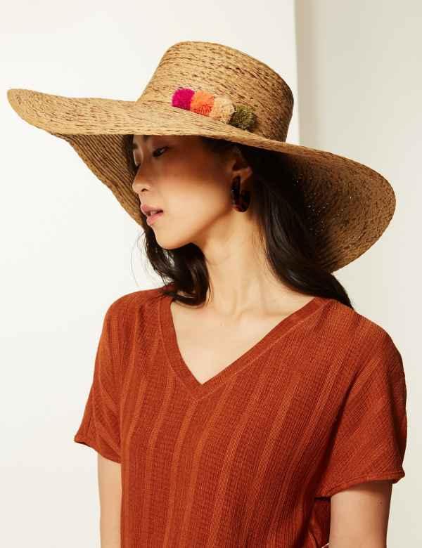 b123f26f Brim Flat Top Sun Hat