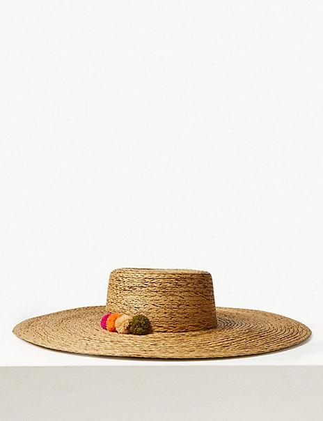 Brim Flat Top Sun Hat