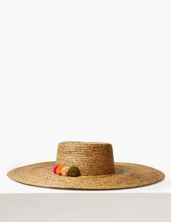 49469ee360b29 Brim Flat Top Sun Hat