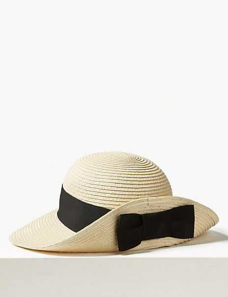 Grosgrain Bow up Brim Sun Hat