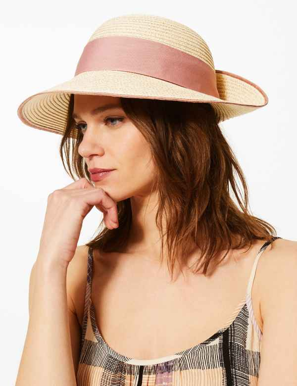 dda1f7969a872 Metallic up Brim Sun Hat. M S Collection