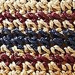 Crochet Look Striped Sun Hat, NATURAL MIX, swatch