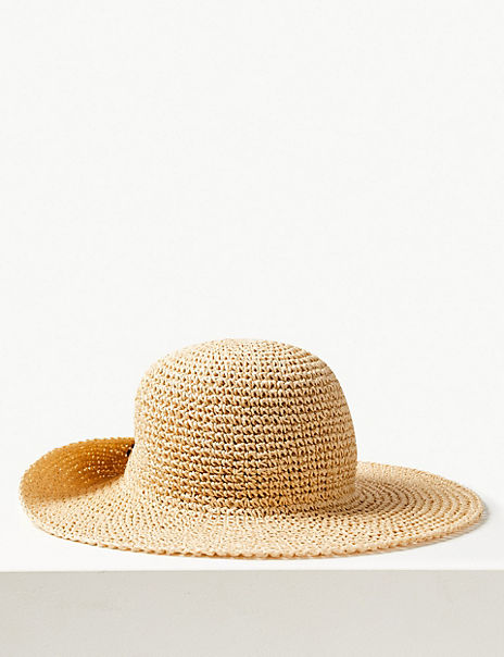 Crochet Look Plain Sun Hat
