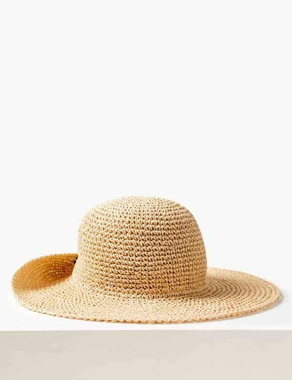 2aa30c18d2cd79 Crochet Look Plain Sun Hat