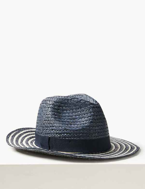 efdd7c0e25688a Striped Fedora Hat