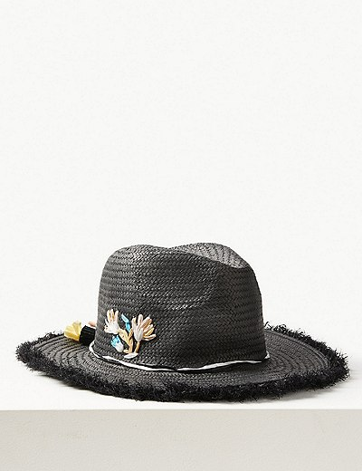 Embroidered Fedora Hat  219b713906d