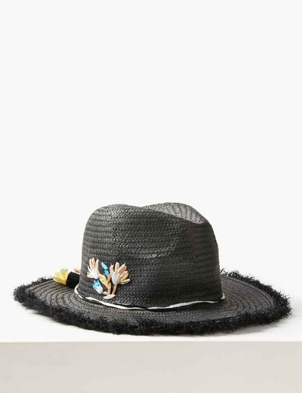159ba2bd1d1 Embroidered Fedora Hat