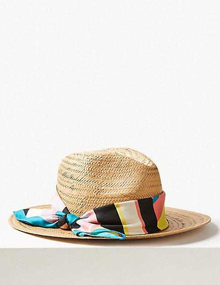 Scarf Fedora Hat
