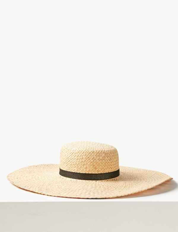 27c89978 Printed Brim Flat Top Sun Hat