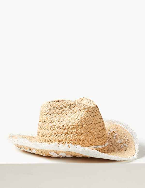 64636cd91f0 Embellished Cowboy Sun Hat
