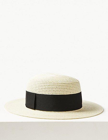Flat Top Mid Brim Sun Hat
