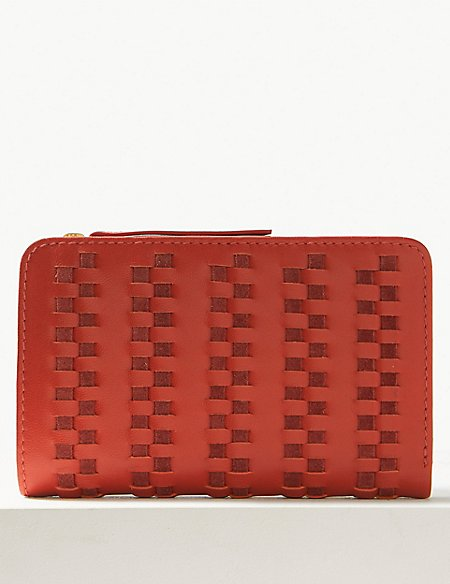 Leather Whipstitch Purse
