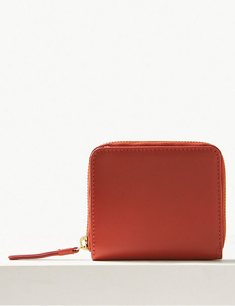 Leather Zip Detail Purse