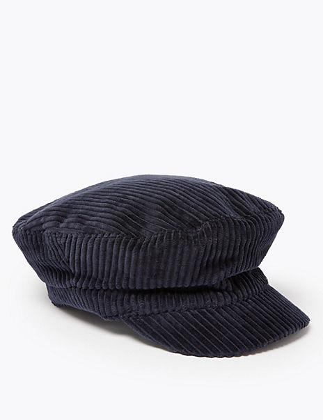 Corduroy Captain's Cap