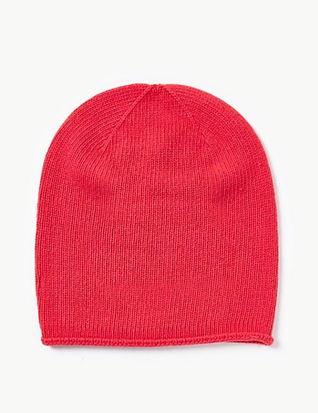 Beanie Hat with Cashmere