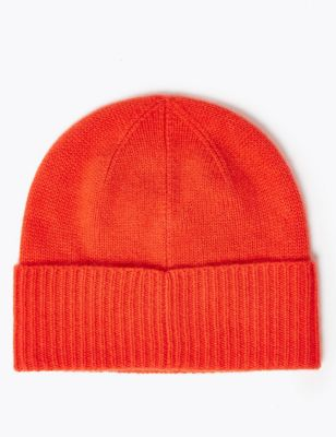 Pure Cashmere Turned Up Beanie by Marks & Spencer