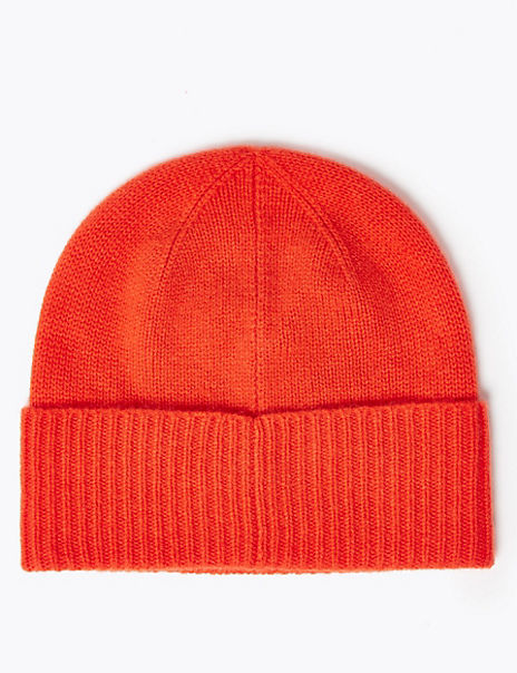 Pure Cashmere Turned Up Beanie