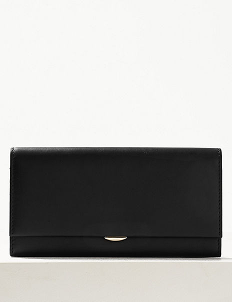 Leather Foldover Purse