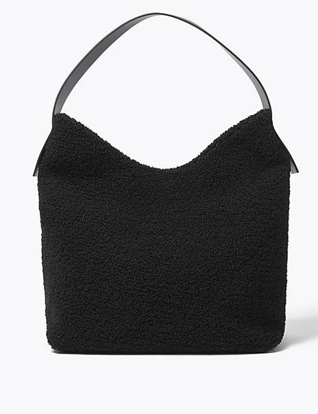 Shearling Hobo Bag