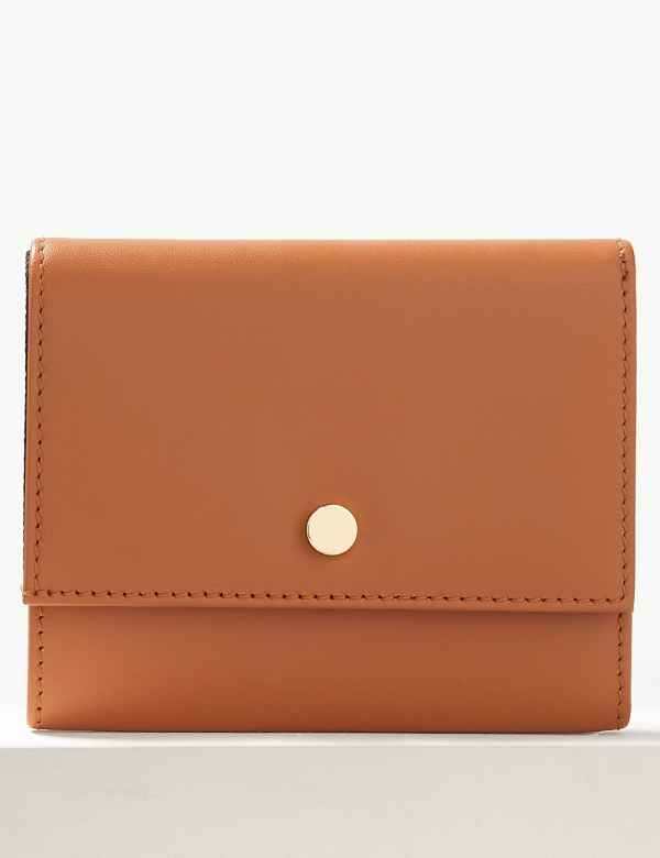 Leather Foldover Purse