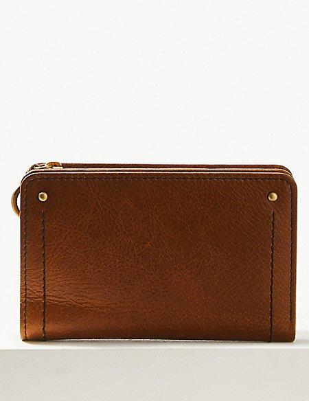 Leather Foldout Purse