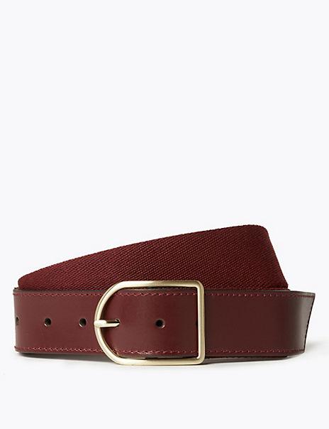 Leather Webbing Hip Belt