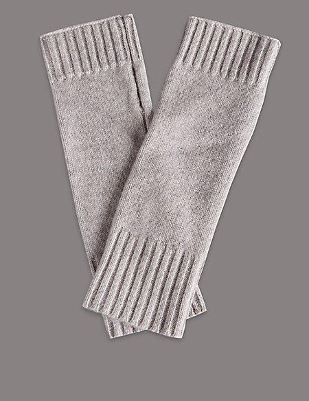 Cashmere Fingerless Knitted Gloves