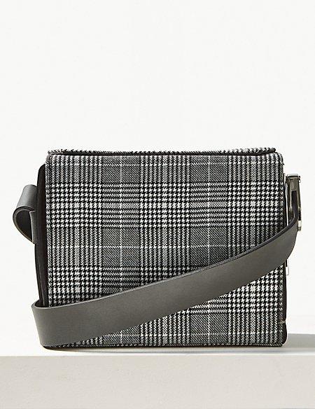 Checked Cross Body Bag
