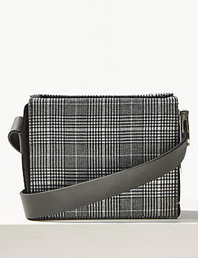 Checked Cross Body Bag