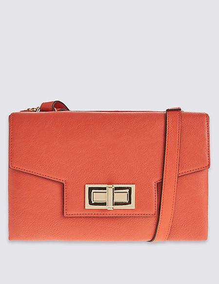 Faux Leather Envelope Bag