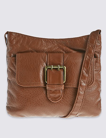 Faux Leather Across Body Bag