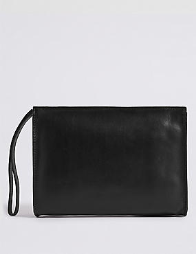 Leather Clutch Bag M S Collection