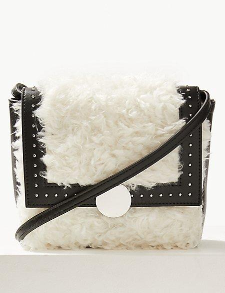 Faux Fur Shearling Cross Body Bag