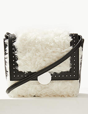 Faux Fur Shearling Cross Body Bag