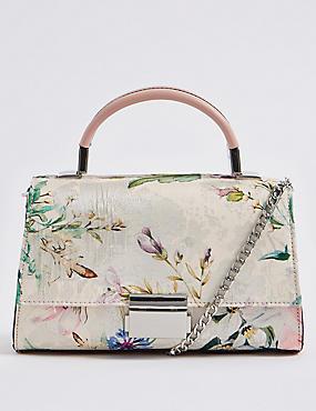 Jacquard Print Shoulder Bag