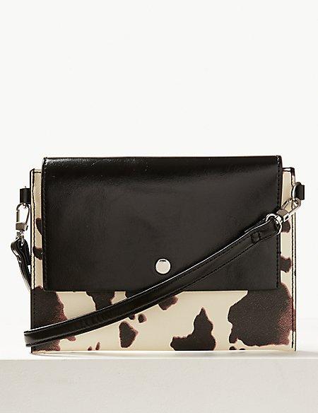 Faux Leather Cross Body Bag