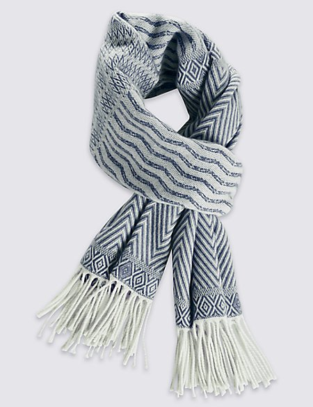 Diamond Striped Scarf