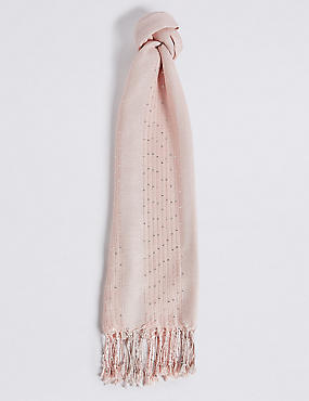 Sequin Striped Scarf