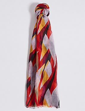 Abstract Colour Block Scarf