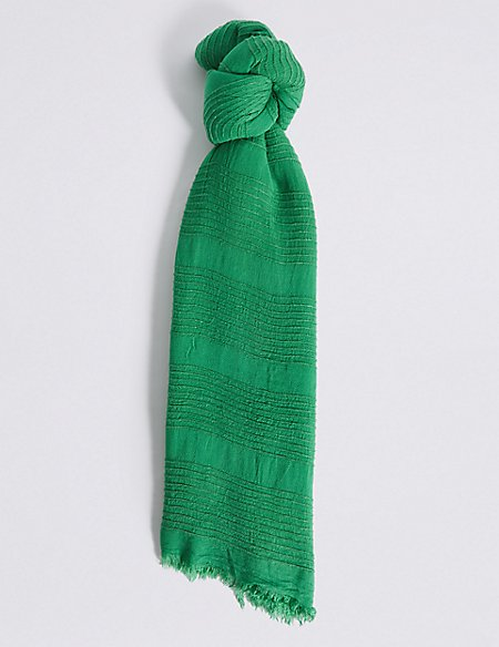 Chenille Striped Scarf