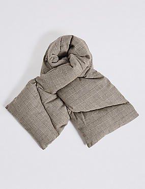 Cotton Rich Checked Puff Scarf
