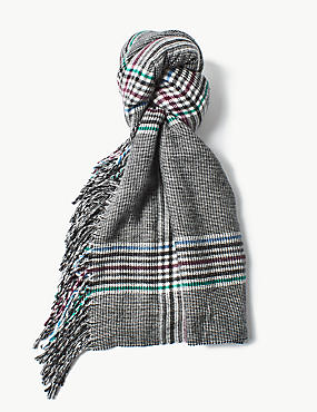 Tassel Checked Scarf