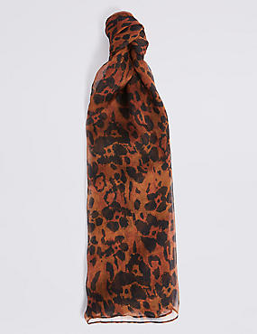 Pure Silk Animal Print Scarf