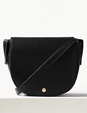 Faux Leather Cross Body Bag