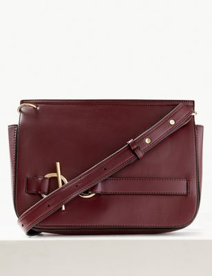 Faux Leather Ring Detail Cross Body Bag by Marks & Spencer