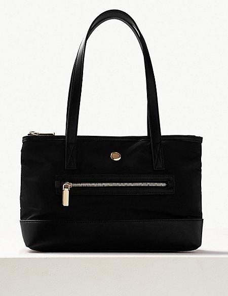Zipped Detail Tote Bag