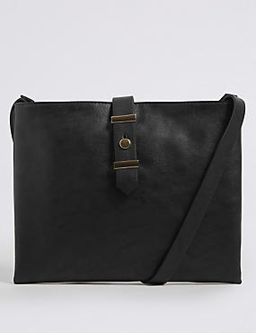 Faux Leather Soft Stud Cross Body Bag