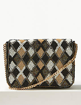 Pure Cotton Embellished Cross Body Bag