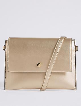 Faux Leather Belt Cross Body Bag